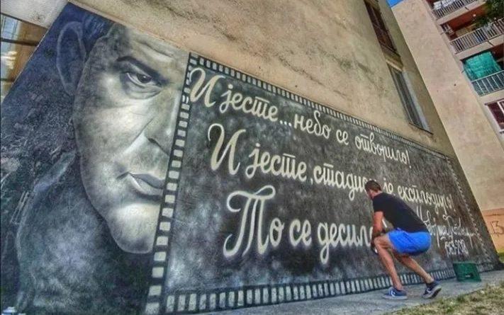 Trebinije dobilo mural Nebojše Glogovca