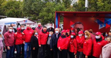 UVJERENI U POBJEDU – Aktivisti SNSD poručili s Trga Krajine da je Banjaluka uz Radojičića