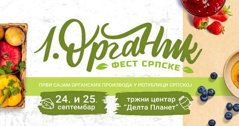 Prvi sajam organskih proizvoda u Republici Srpskoj biće organizovan 24. i 25. septembra